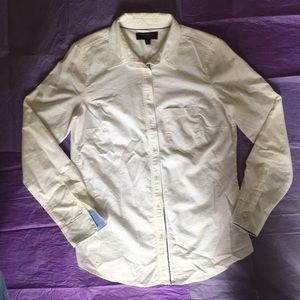 Banana republic button up white shirt